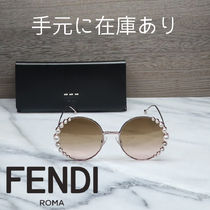 FENDI Round Oversized Sunglasses