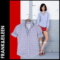 Frank&Eileen Other Check Patterns Casual Style Long Sleeves Cotton