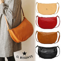 IL BISONTE Casual Style Unisex 2WAY Plain Other Animal Patterns Leather