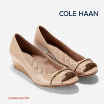 Cole Haan Open Toe Enamel Peep Toe Pumps & Mules