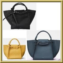CELINE Strap A4 2WAY Plain Leather Elegant Style Handbags