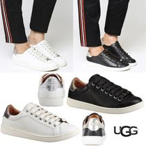 UGG Australia Round Toe Rubber Sole Lace-up Casual Style Plain Leather