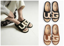 UGG Australia UGG SLIDE Open Toe Rubber Sole Casual Style Suede Slippers Sandals