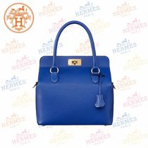 HERMES Toolbox 2WAY Plain Leather Handbags