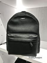 Michael Kors A4 Plain Leather Backpacks