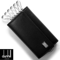 Dunhill Plain Leather Keychains & Holders