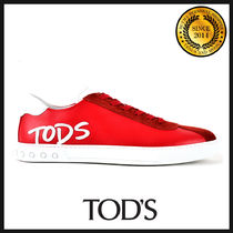 TOD'S Blended Fabrics Plain Leather Sneakers