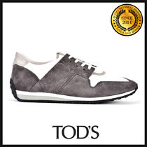 TOD'S Suede Blended Fabrics Bi-color Sneakers