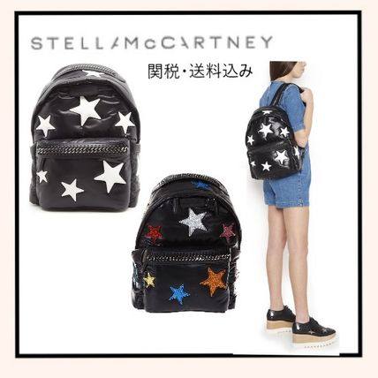 02a2fccf5180 Stella McCartney FALABELLA 2018 SS Star Casual Style A4 Backpacks by ...