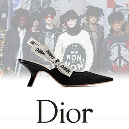 new product 9ea2f ea026 Christian Dior 2018 SS Casual Style Plain Leather Pin Heels Heeled Sandals