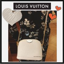 Louis Vuitton EPI Calfskin Plain Elegant Style Shoulder Bags