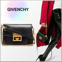 GIVENCHY 2WAY Bi-color Chain Plain Leather Elegant Style