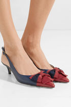 GUCCI Leather Kitten Heel Pumps & Mules