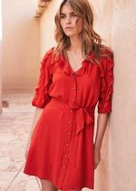 SEZANE Short Silk Dresses