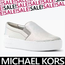 Michael Kors Round Toe Casual Style Plain Other Animal Patterns