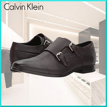 Calvin Klein Straight Tip Monk Plain Leather Loafers & Slip-ons