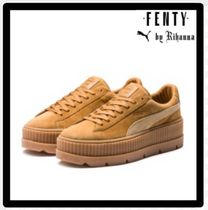PUMA Platform Round Toe Casual Style Unisex Suede Street Style