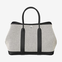 HERMES Garden Party Unisex Street Style A4 Leather Totes