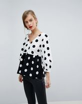 ASOS Dots Casual Style Cotton Shirts & Blouses
