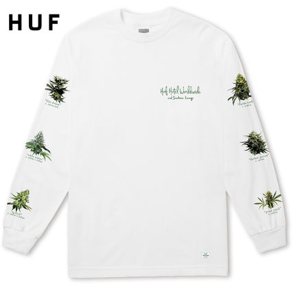 HUF Long Sleeve Crew Neck Street Style Long Sleeves Logos on the Sleeves