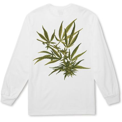 HUF Long Sleeve Crew Neck Street Style Long Sleeves Logos on the Sleeves 2