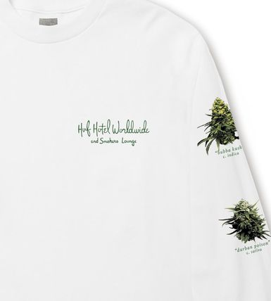HUF Long Sleeve Crew Neck Street Style Long Sleeves Logos on the Sleeves 3