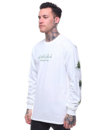 HUF Long Sleeve Crew Neck Street Style Long Sleeves Logos on the Sleeves 4