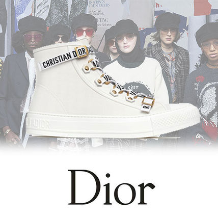 cb9329ba44e938 Christian Dior 2018 SS Women s Sneakers Round Toe  Shop Online in US ...