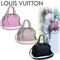 Louis Vuitton MAHINA Monogram Casual Style A4 2WAY Leather Handbags