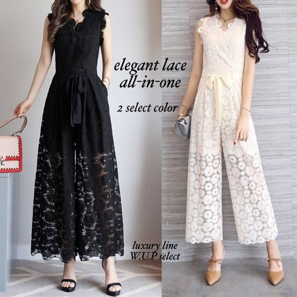 Dresses Flower Patterns Sleeveless Long Party Style Lace Dresses