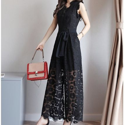 Dresses Flower Patterns Sleeveless Long Party Style Lace Dresses 2