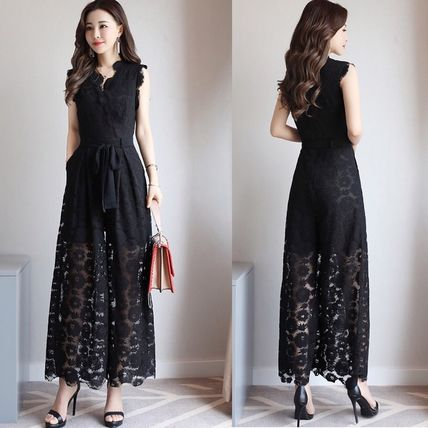 Dresses Flower Patterns Sleeveless Long Party Style Lace Dresses 5