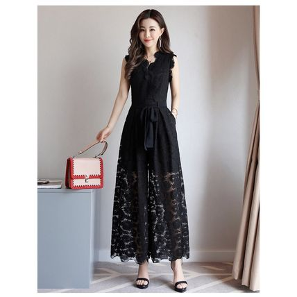 Dresses Flower Patterns Sleeveless Long Party Style Lace Dresses 11