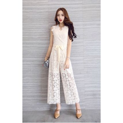 Dresses Flower Patterns Sleeveless Long Party Style Lace Dresses 12
