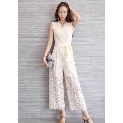 Dresses Flower Patterns Sleeveless Long Party Style Lace Dresses 13