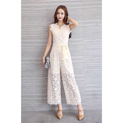 Dresses Flower Patterns Sleeveless Long Party Style Lace Dresses 14