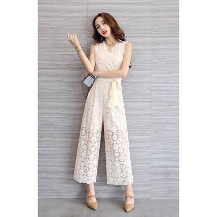 Dresses Flower Patterns Sleeveless Long Party Style Lace Dresses 15