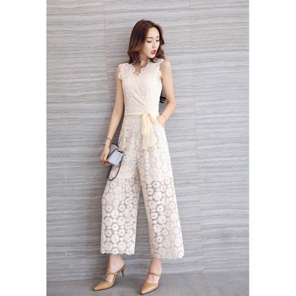Dresses Flower Patterns Sleeveless Long Party Style Lace Dresses 16