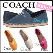 Coach Platform Round Toe Casual Style Plain Slip-On Shoes