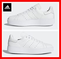 adidas STAN SMITH Platform Lace-up Casual Style Unisex Street Style Plain