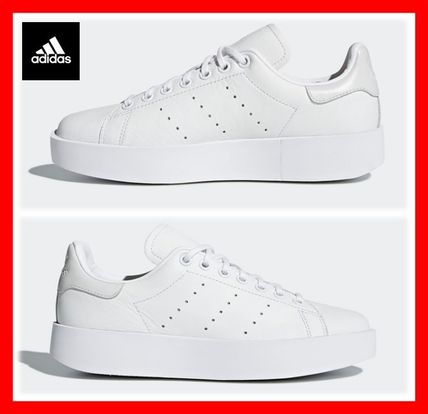 brand new 3247c 3a2c0 adidas STAN SMITH 2018 SS Platform Lace-up Casual Style Unisex Street Style  Plain
