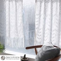DECO VIEW Flower Patterns Ethnic Curtains