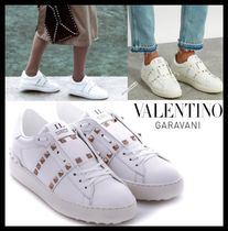VALENTINO Leather Elegant Style Low-Top Sneakers