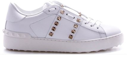 VALENTINO Low-Top Leather Elegant Style Low-Top Sneakers 2