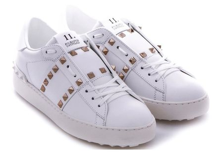 VALENTINO Low-Top Leather Elegant Style Low-Top Sneakers 3