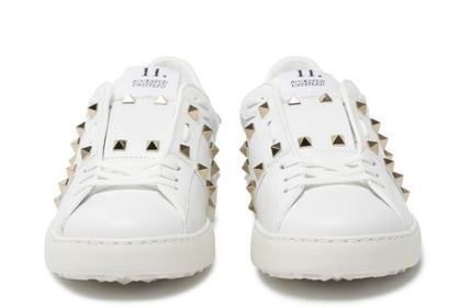 VALENTINO Low-Top Leather Elegant Style Low-Top Sneakers 6