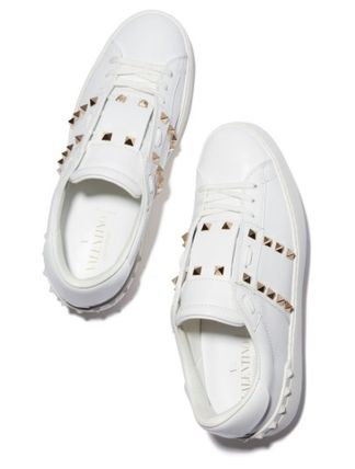 VALENTINO Low-Top Leather Elegant Style Low-Top Sneakers 8