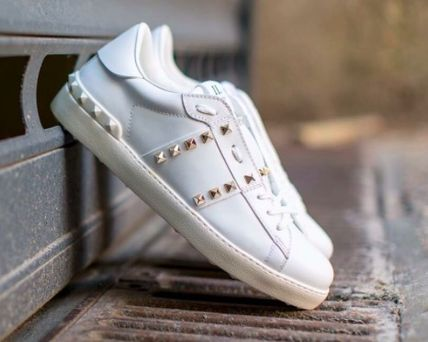 VALENTINO Low-Top Leather Elegant Style Low-Top Sneakers 9
