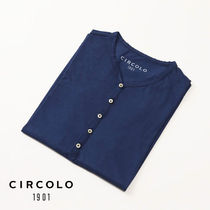 CIRCOLO 1901 Pullovers Henry Neck Plain Cotton Short Sleeves