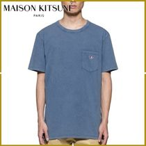 MAISON KITSUNE Crew Neck Pullovers Street Style Other Animal Patterns